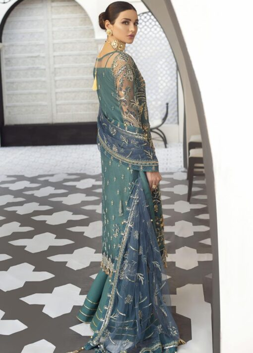 Gulaal Embroidered Net Unstitched 3 Piece Suit 2021 D 04 – Luxury Collection