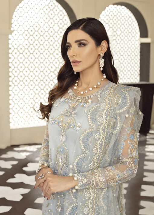 Gulaal Embroidered Net Unstitched 3 Piece Suit 2021 D 06 – Luxury Collection