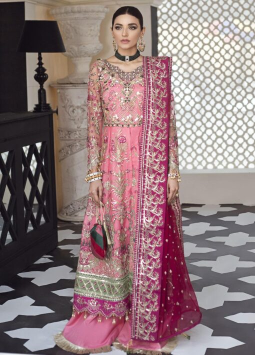 Gulaal Embroidered Net Unstitched 3 Piece Suit 2021 D 07 – Luxury Collection