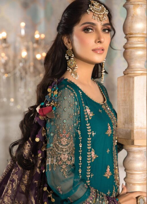 Maria B Embroidered Chiffon Unstitched 3 Piece Suit 2021 D 02 – Luxury Collection