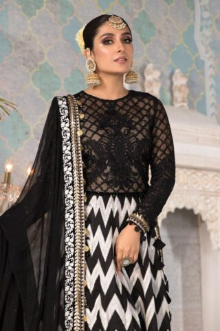 Maria B Embroidered Chiffon Unstitched 3 Piece Suit 2021 D 03 – Luxury Collection
