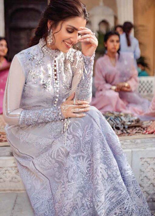 Mushq Chikankari Cotton Net Unstitched 3 Piece Suit 2021 02 ZEB – Festive Collection
