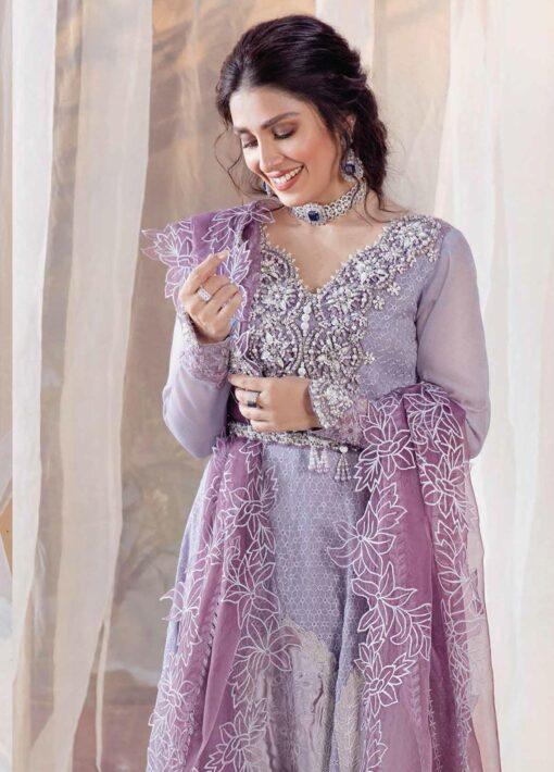 Mushq Chikankari Cotton Net Unstitched 3 Piece Suit 2021 04 ZEENAT – Festive Collection