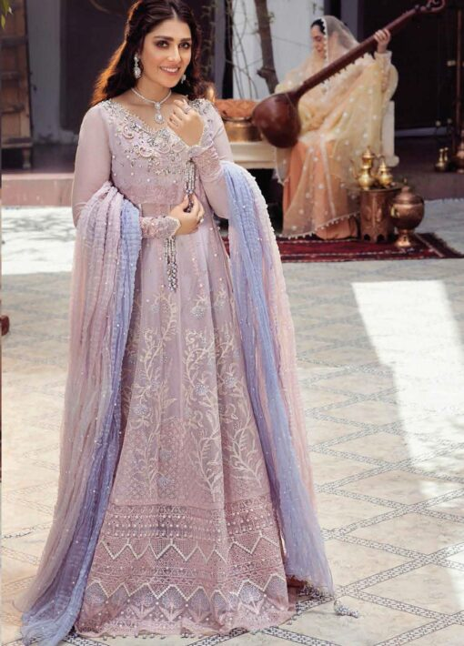 Mushq Chikankari Cotton Net Unstitched 3 Piece Suit 2021 05 KULSUM – Festive Collection