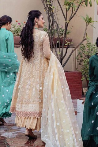 Mushq Chikankari Cotton Net Unstitched 3 Piece Suit 2021 08 SAHIBA- Festive Collection