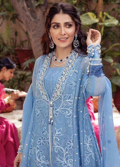 Mushq Chikankari Cotton Net Unstitched 3 Piece Suit 2021 09 SAHAR – Festive Collection