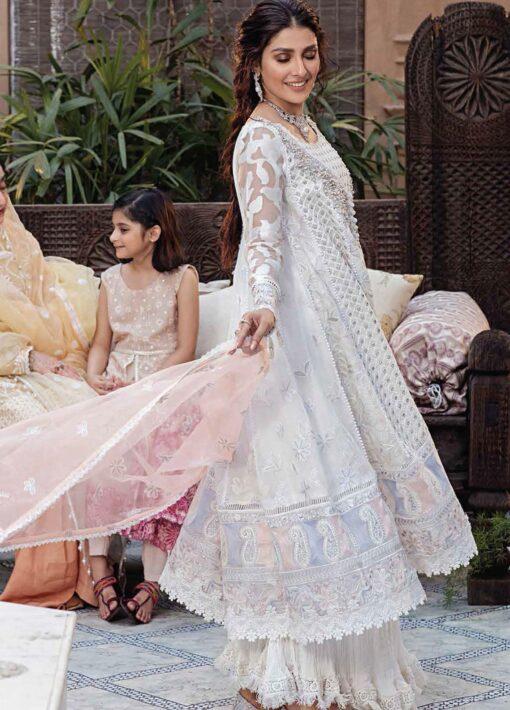 Mushq Chikankari Cotton Net Unstitched 3 Piece Suit 2021 10 JANA – Festive Collection