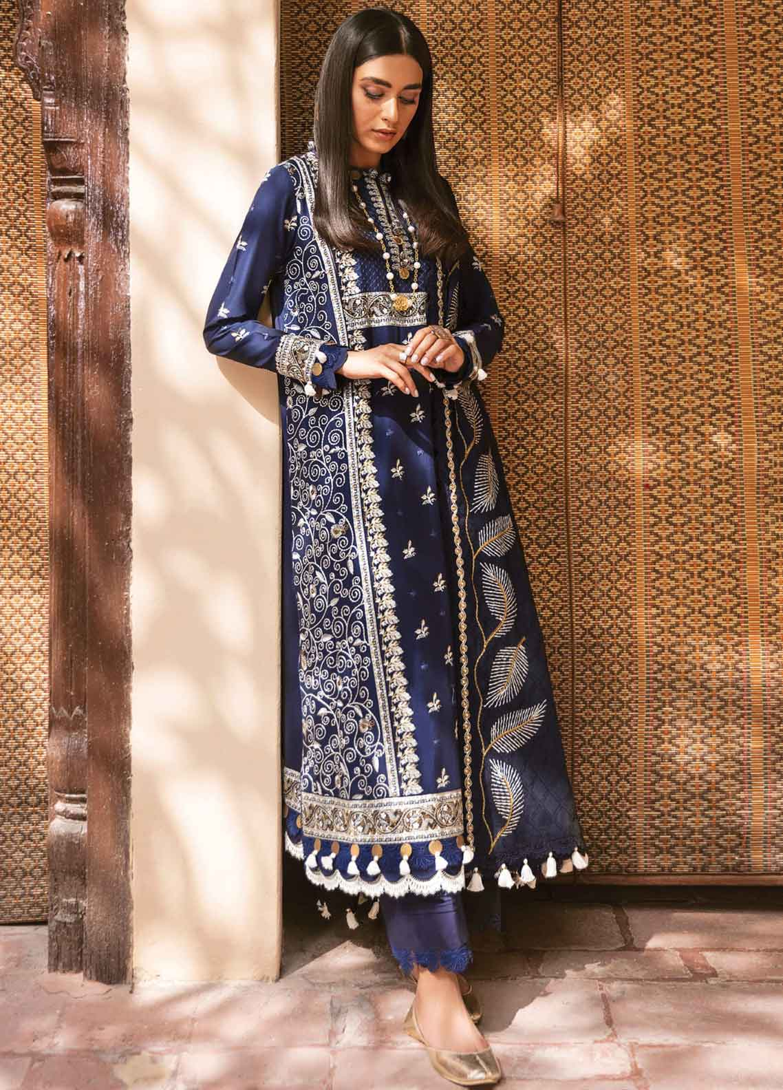 Zaha Festive Embroidered Lawn Suit Unstitched 3 Piece 2021 02 JINANI – Festive Collection