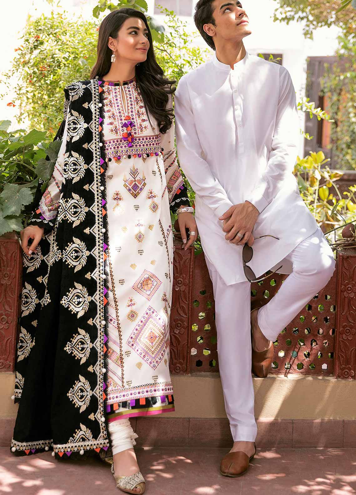 Zaha Festive Embroidered Lawn Suit Unstitched 3 Piece 2021 04 SANAYA – Festive Collection