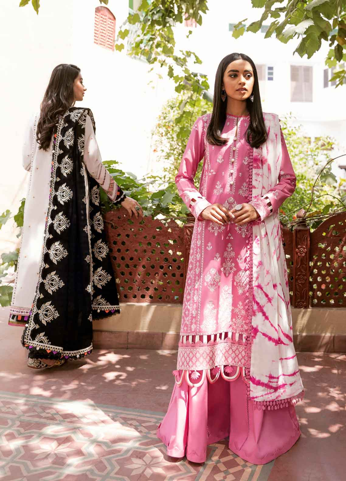 Zaha Festive Embroidered Lawn Suit Unstitched 3 Piece 2021 07 ANADIA – Festive Collection