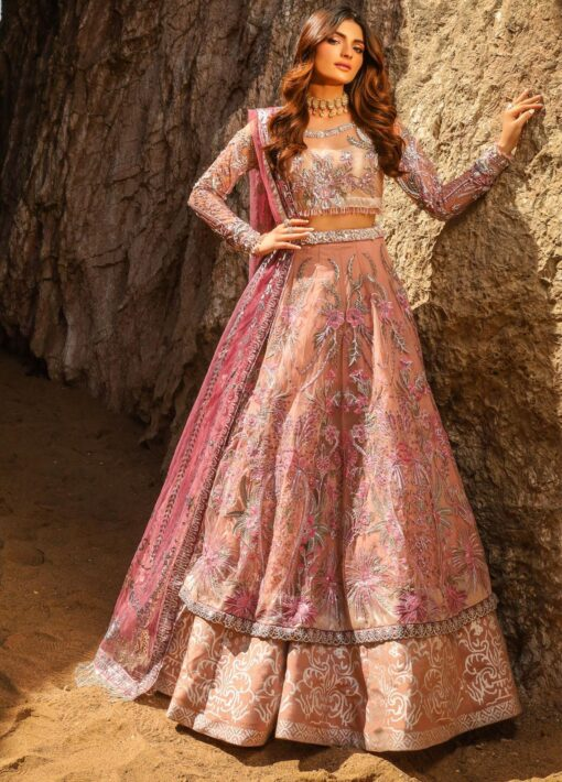 Alif by AJR Couture Embroidered Chiffon Unstitched 3 Piece Suit 02 – Wedding Collection