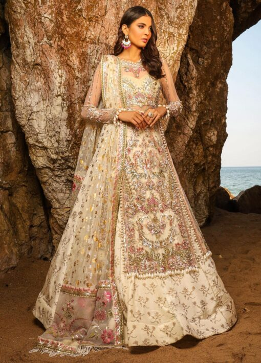 Alif by AJR Couture Embroidered Chiffon Unstitched 3 Piece Suit 03 – Wedding Collection