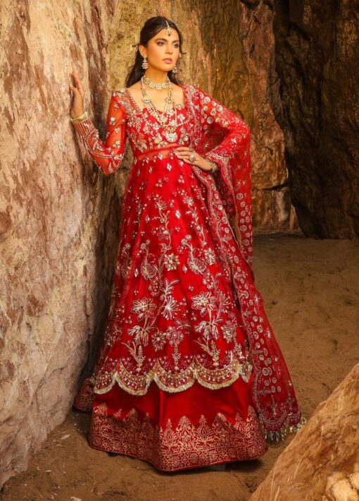 Alif by AJR Couture Embroidered Chiffon Unstitched 3 Piece Suit 04 – Wedding Collection