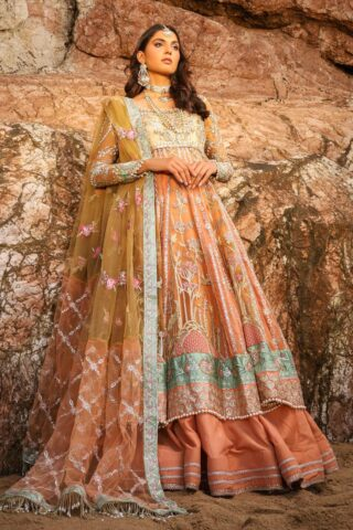 Alif by AJR Couture Embroidered Chiffon Unstitched 3 Piece Suit 05 – Wedding Collection
