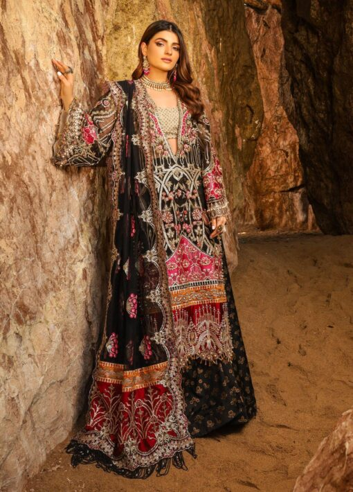Alif by AJR Couture Embroidered Chiffon Unstitched 3 Piece Suit 06 – Wedding Collection