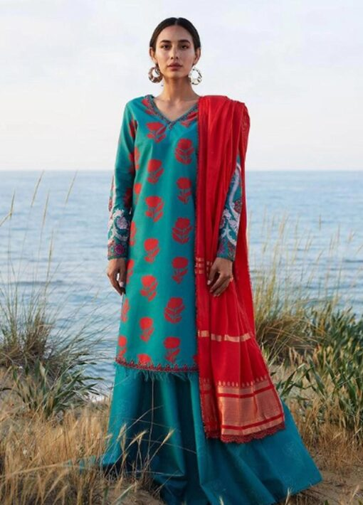 Coco by Zara Shahjahan Embroidered Lawn Unstitched 3 Piece Suit 2021 02 – B  – Luxury Collection