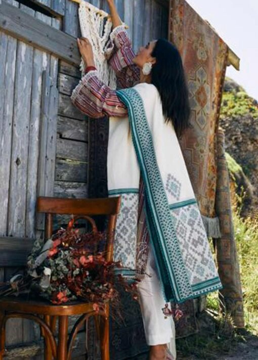 Coco by Zara Shahjahan Embroidered Lawn Unstitched 3 Piece Suit 2021 03 – A  – Luxury Collection