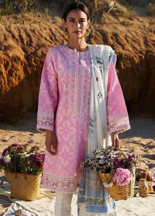 Coco by Zara Shahjahan Embroidered Lawn Unstitched 3 Piece Suit 2021 04 – A  – Luxury Collection