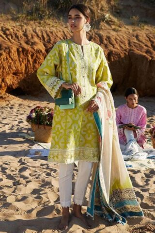 Coco by Zara Shahjahan Embroidered Lawn Unstitched 3 Piece Suit 2021 04 – B  – Luxury Collection