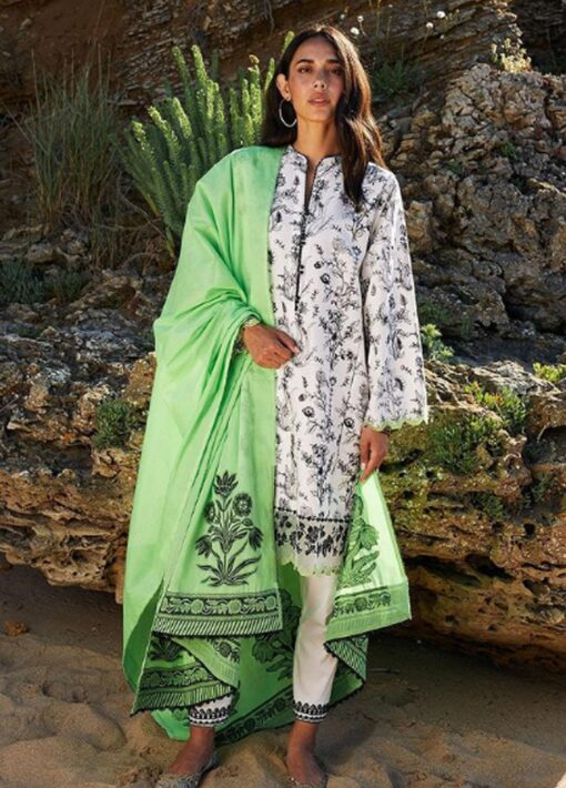 Coco by Zara Shahjahan Embroidered Lawn Unstitched 3 Piece Suit 2021 05 – B  – Luxury Collection