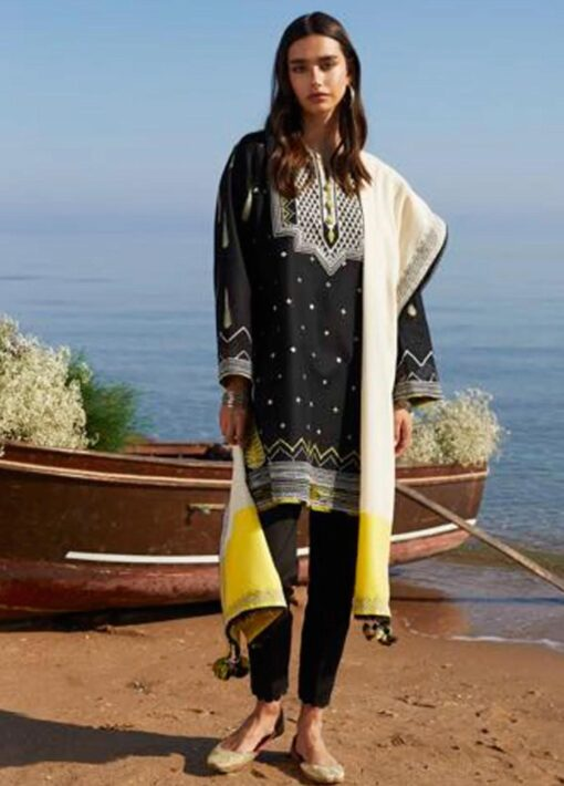 Coco by Zara Shahjahan Embroidered Lawn Unstitched 3 Piece Suit 2021 07 – A  – Luxury Collection
