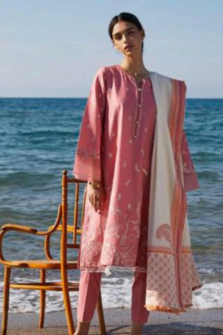 Coco by Zara Shahjahan Embroidered Lawn Unstitched 3 Piece Suit 2021 08 – B  – Luxury Collection