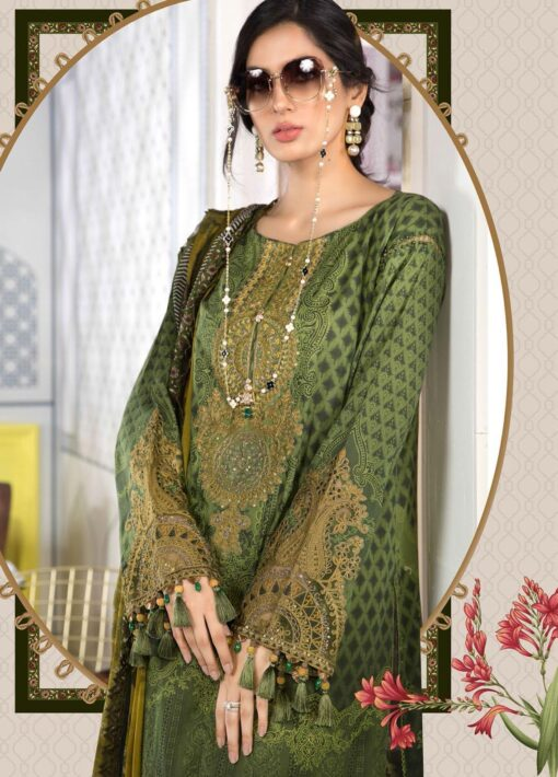 Mprints by Maria B Printed Lawn Unstitched 3 Piece Suit 2021 1101 A – Summer Collection