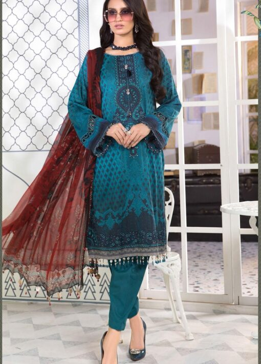 Mprints by Maria B Printed Lawn Unstitched 3 Piece Suit 2021 1101 B – Summer Collection