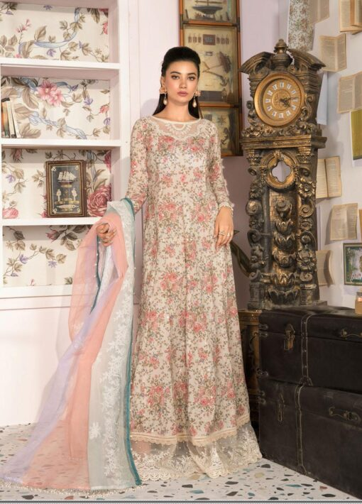 Mprints by Maria B Printed Lawn Unstitched 3 Piece Suit 2021 1102 A – Summer Collection