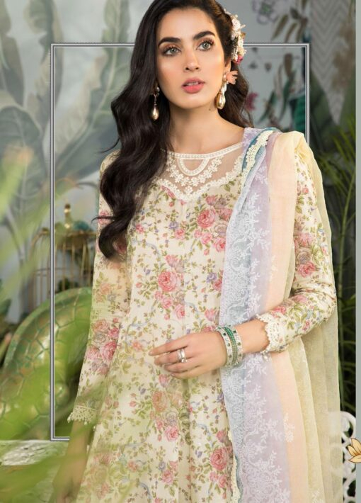 Mprints by Maria B Printed Lawn Unstitched 3 Piece Suit 2021 1102 B – Summer Collection