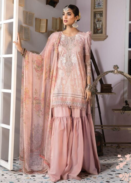 Mprints by Maria B Printed Lawn Unstitched 3 Piece Suit 2021 1103 A – Summer Collection