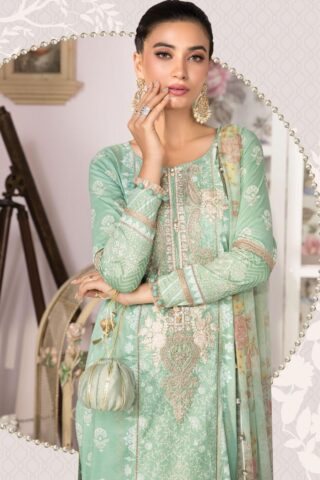 Mprints by Maria B Printed Lawn Unstitched 3 Piece Suit 2021 1103 B – Summer Collection