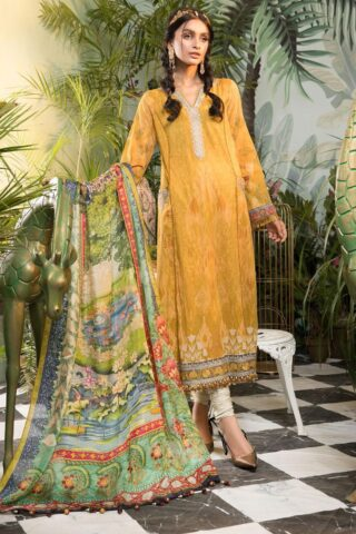 Mprints by Maria B Printed Lawn Unstitched 3 Piece Suit 2021 1104 A – Summer Collection
