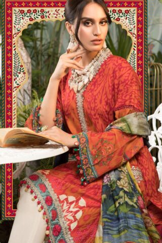 Mprints by Maria B Printed Lawn Unstitched 3 Piece Suit 2021 1104 B – Summer Collection