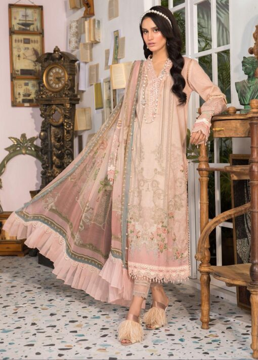 Mprints by Maria B Printed Lawn Unstitched 3 Piece Suit 2021 1105 A – Summer Collection