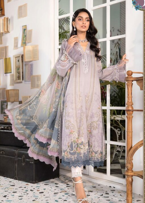 Mprints by Maria B Printed Lawn Unstitched 3 Piece Suit 2021 1105 B – Summer Collection