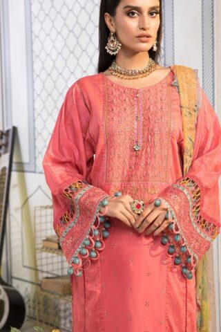 Mprints by Maria B Printed Lawn Unstitched 3 Piece Suit 2021 1107 A – Summer Collection