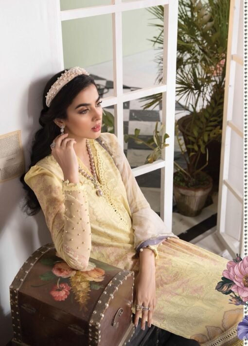 Mprints by Maria B Printed Lawn Unstitched 3 Piece Suit 2021 1108 A – Summer Collection