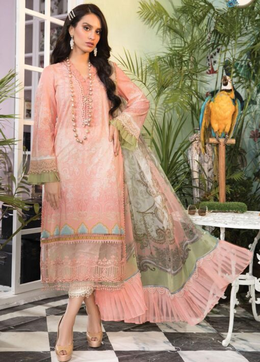 Mprints by Maria B Printed Lawn Unstitched 3 Piece Suit 2021 1108 B – Summer Collection