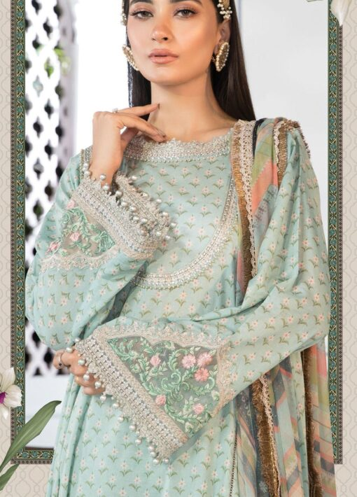 Mprints by Maria B Printed Lawn Unstitched 3 Piece Suit 2021 1109 A – Summer Collection