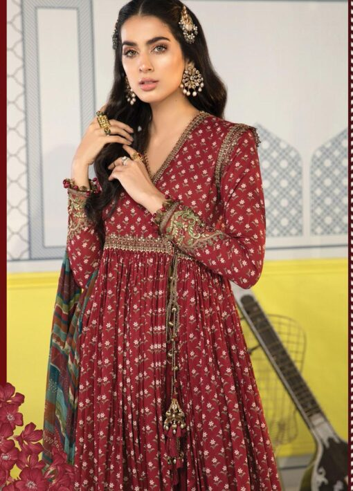 Mprints by Maria B Printed Lawn Unstitched 3 Piece Suit 2021 1109 B – Summer Collection