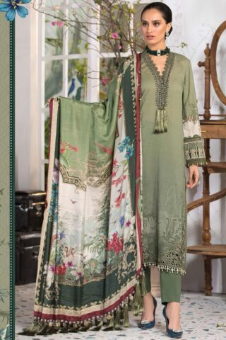 Mprints by Maria B Printed Lawn Unstitched 3 Piece Suit 2021 1110 A – Summer Collection
