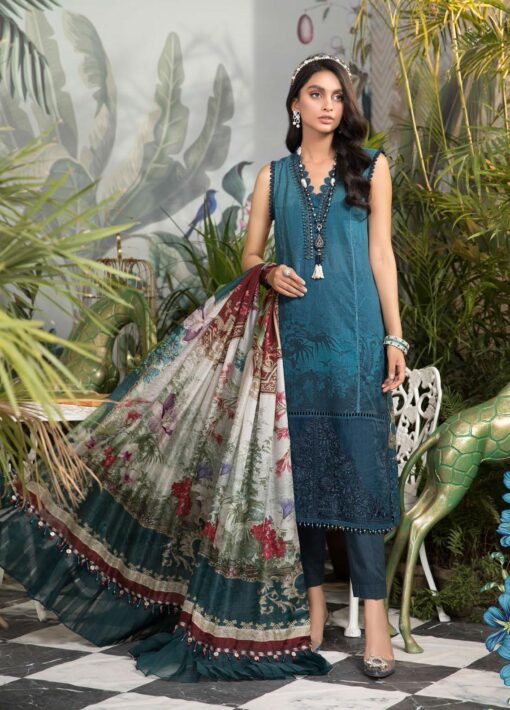 Mprints by Maria B Printed Lawn Unstitched 3 Piece Suit 2021 1110 B – Summer Collection