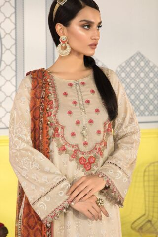 Mprints by Maria B Printed Lawn Unstitched 3 Piece Suit 2021 1111 A – Summer Collection