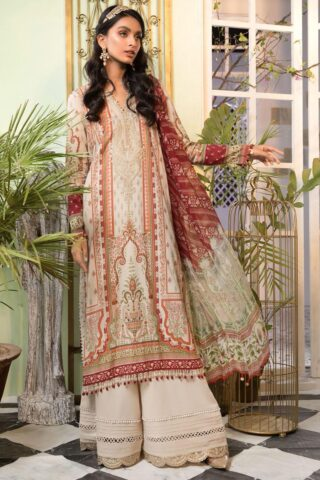 Mprints by Maria B Printed Lawn Unstitched 3 Piece Suit 2021 1112 A – Summer Collection
