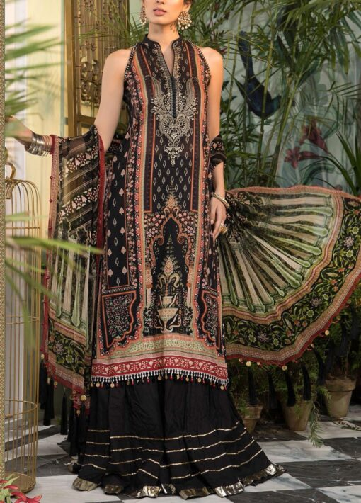 Mprints by Maria B Printed Lawn Unstitched 3 Piece Suit 2021 1112 B – Summer Collection