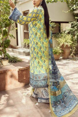 Maryam Hussain Embroidered Lawn Suit Unstitched 3 Piece 2021 03 Motiya – Festive Collection