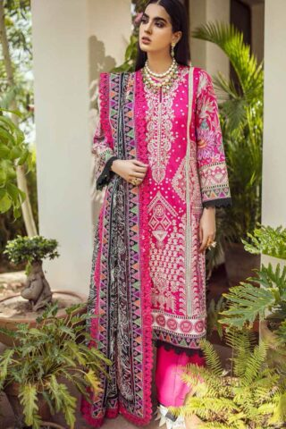 Maryam Hussain Embroidered Lawn Suit Unstitched 3 Piece 2021 04 Rania – Festive Collection
