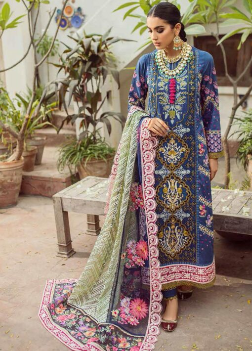 Maryam Hussain Embroidered Lawn Suit Unstitched 3 Piece 2021 05 Feroza – Festive Collection