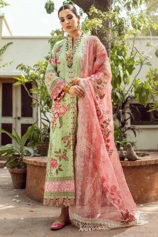 Maryam Hussain Embroidered Lawn Suit Unstitched 3 Piece 2021 06 Roshni – Festive Collection